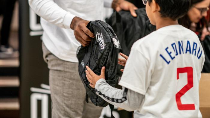 Kawhi Leonard and Baby2Baby Gives One Million Backpacks to SoCal Kids